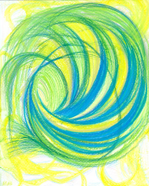 Mixed Colors Drawing - Launch Yourself On Every Wave by Kelly K H B