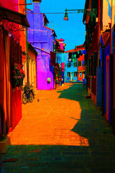 Donna Digital Art - Laundry Across Narrow Street by Donna Corless