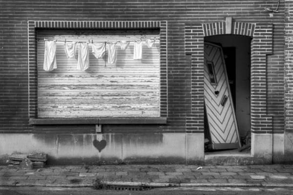 Dirty Laundry Photograph - Laundry And Abandoned House by Dirk Ercken