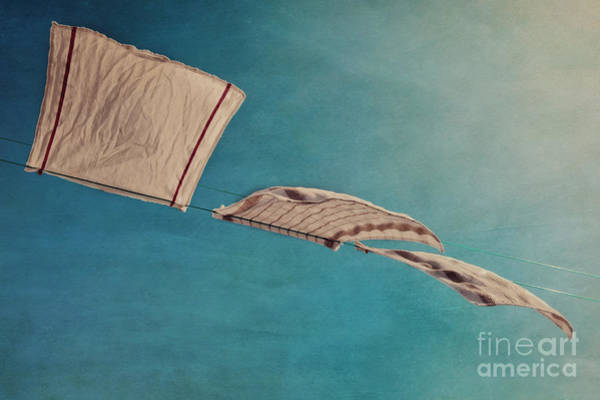 Linen Wall Art - Photograph - Laundry Day by Priska Wettstein