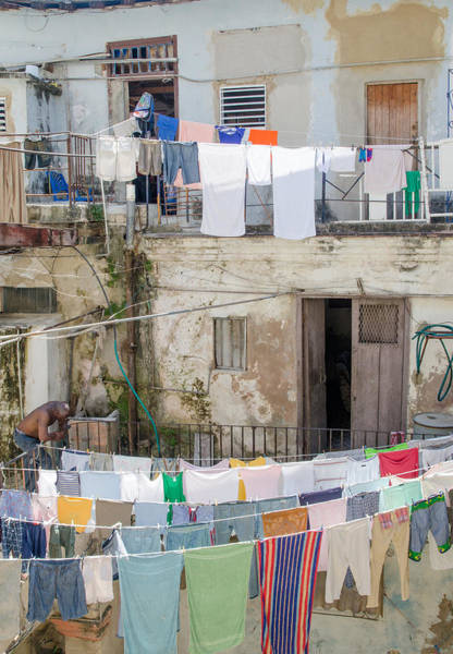 Photograph - Laundry In Havana Cuba by Rob Huntley
