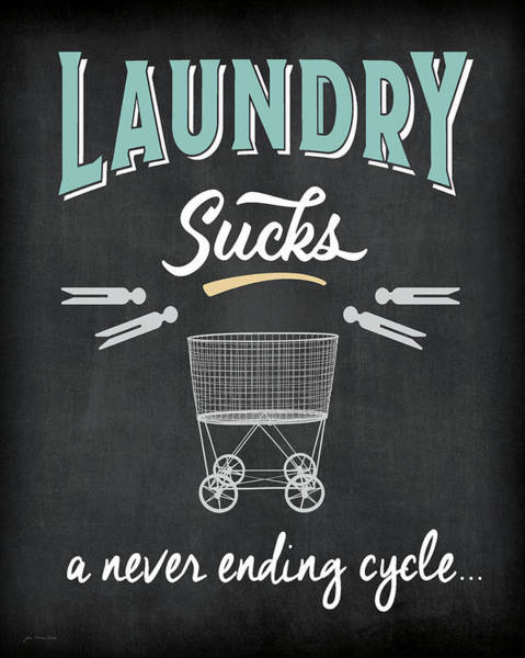 Wall Art - Painting - Laundry Sucks by Jo Moulton