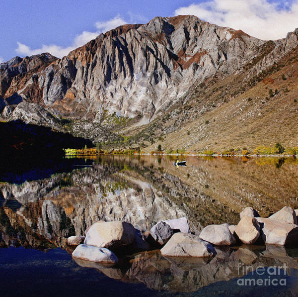 Photograph - Laural Mountain Convict Lake California by Bob and Nadine Johnston