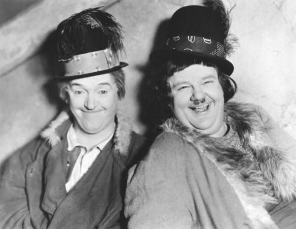 Wall Art - Photograph - Laurel And Hardy by Underwood Archives