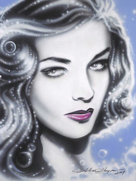 Leading Actress Wall Art - Painting - Lauren Bacall by Alicia Hayes