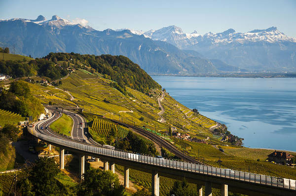 Photograph - Lausanne To Montreux by Rob Hemphill