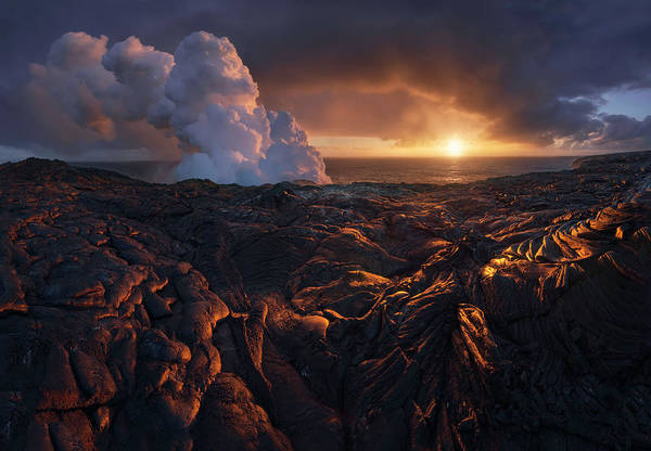 Cliff Photograph - Lava Fields by Inigo Cia
