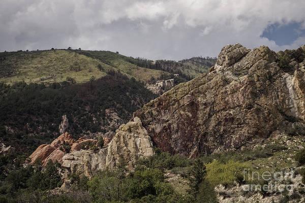 Photograph - Lavendar Rock Face by David Waldrop