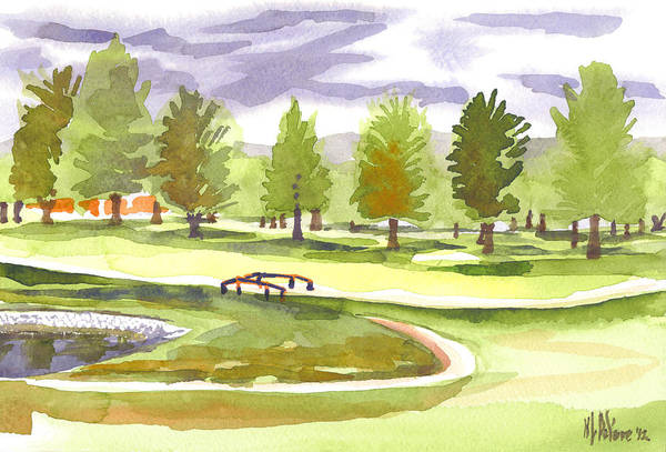 Country Club Painting - Lavender And Green by Kip DeVore