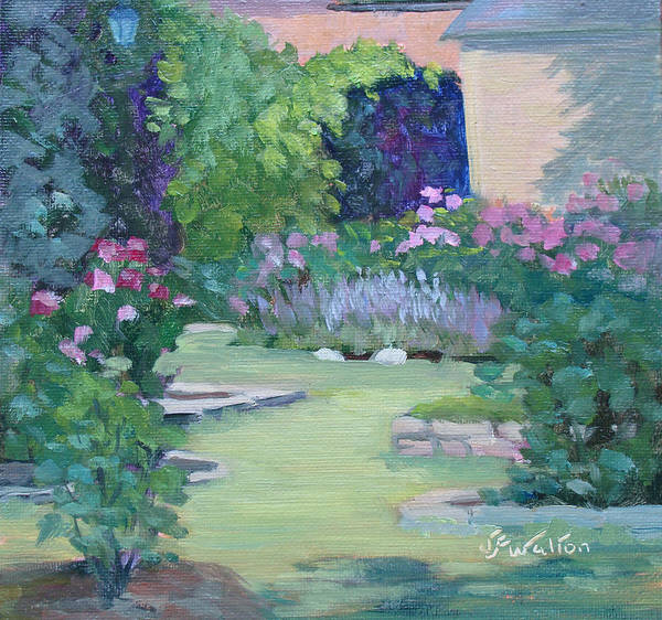 Painting - Lavender And Roses by Judy Fischer Walton