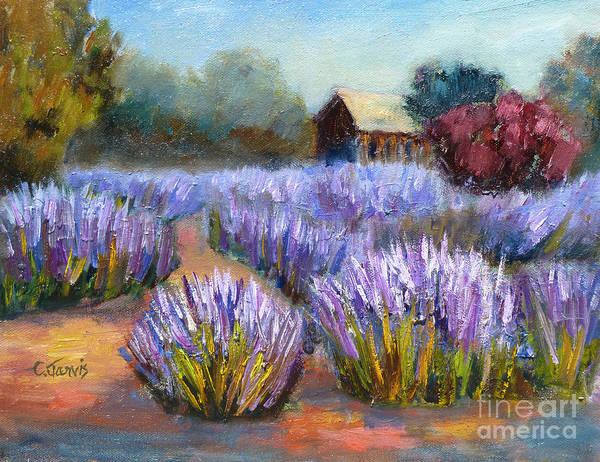 Painting - Lavender Blooms by Carolyn Jarvis
