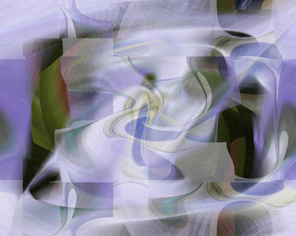 Digital Art - Lavender Daze - Fine Art Digital Abstract by rd Erickson