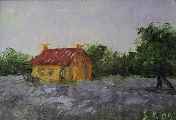 Stephen King Painting - Lavender Fields by Stephen King