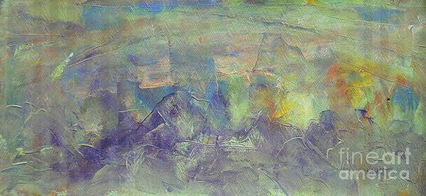Conceptualism Painting - Lavender Hills by Dmitry Kazakov