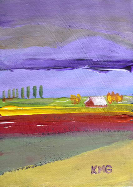 Skagit Valley Painting - Lavender Hills by Kimberly Maxwell Grantier