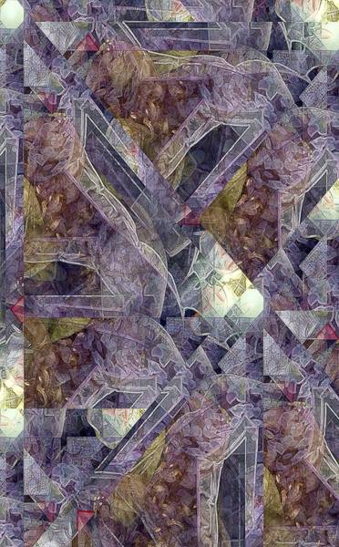 Rotating Digital Art - Lavender Petals by Ron Bissett