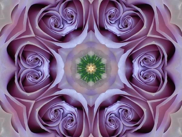 Digital Art - Lavender Rose Mandala by Diane Lynn Hix