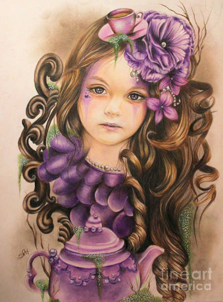 Coloured Pencil Drawing - Lavender  by Sheena Pike