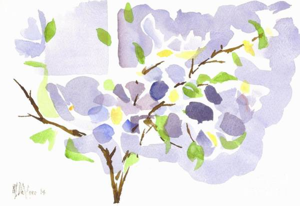 Wall Art - Painting - Lavender With Missouri Dogwood In The Window by Kip DeVore
