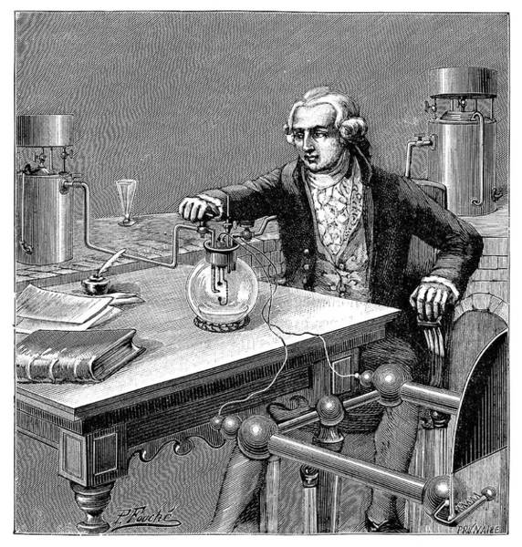 Physique Photograph - Lavoisier's Water Formation Experiment by Science Photo Library