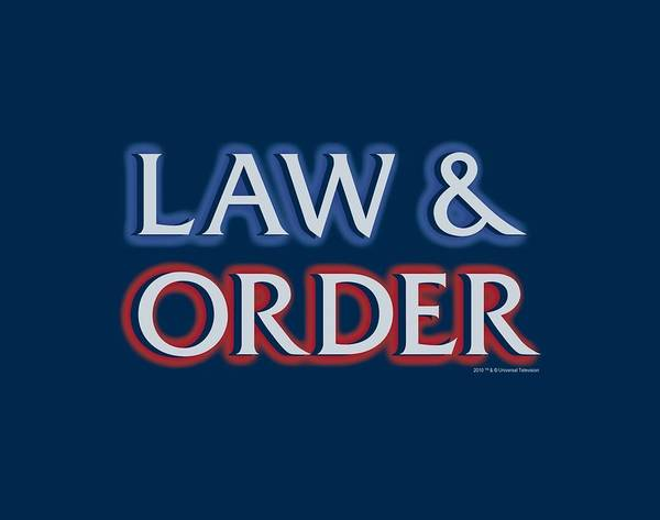 Wall Art - Digital Art - Law And Order - Logo by Brand A