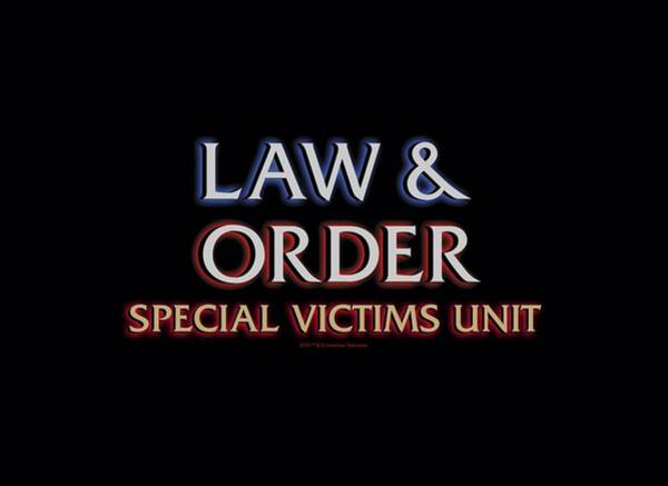 Wall Art - Digital Art - Law And Order Svu - Logo by Brand A