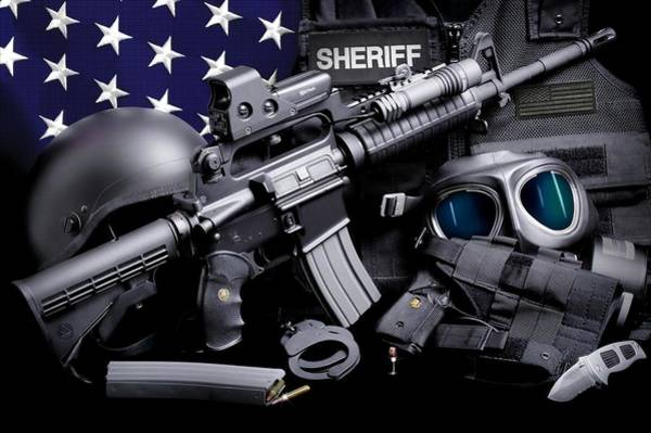 Law Enforcement Photograph - Law Enforcement Tactical Sheriff by Gary Yost