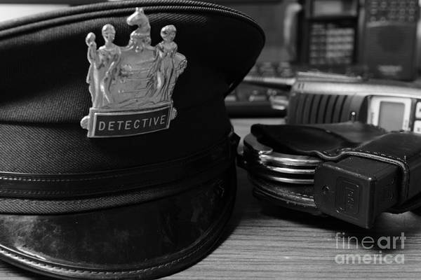 Wall Art - Photograph - Law Enforcement - The Detective In Black And White by Paul Ward