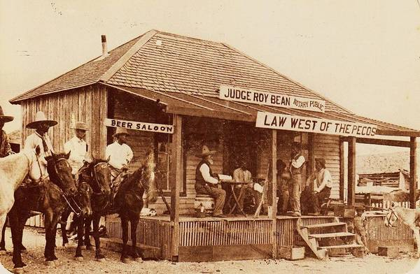 Reproduction Wall Art - Photograph - Law West Of The Pecos by Pg Reproductions