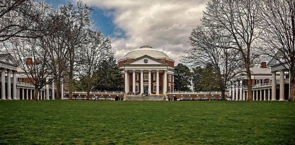 Photograph - Lawn And Rotunda At University Of Virginia by Jerry Gammon