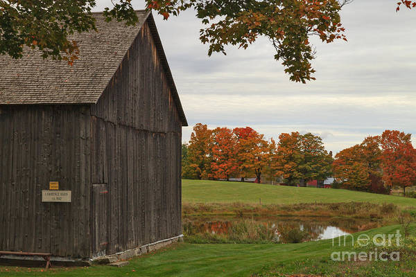 Photograph - Lawrence Barn At The Old Stone House Museum by Charles Kozierok