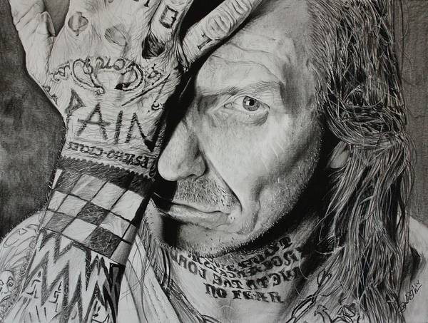 Tattoo Drawing - Lawrence Desmedt by Joshua Navarra