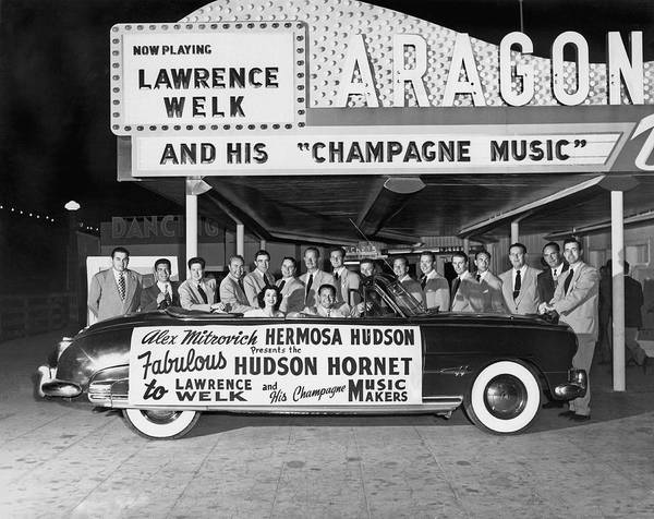 Aragon Photograph - Lawrence Welk In His Hudson by Underwood Archives