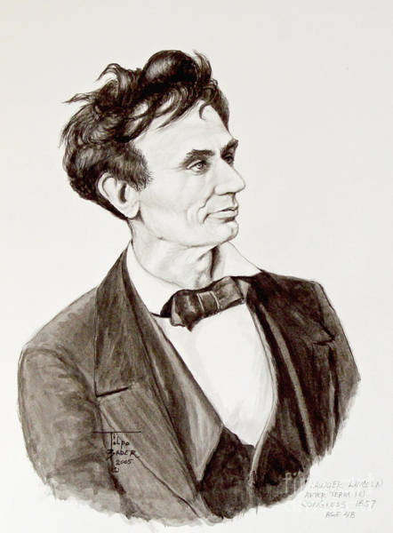 Painting - Lawyer Abe Lincoln  by Art By - Ti   Tolpo Bader