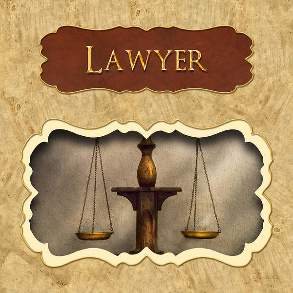 Photograph - Lawyer Button by Mike Savad