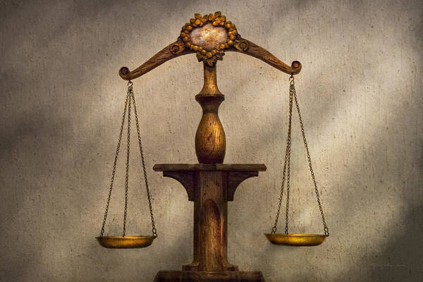 Wall Art - Photograph - Lawyer - Scale - Fair And Just by Mike Savad