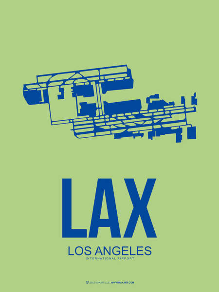 Tourist Wall Art - Digital Art - Lax Airport Poster 1 by Naxart Studio