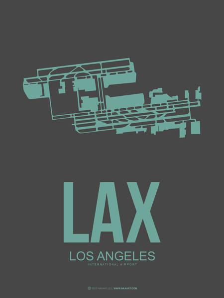 Lax Digital Art - Lax Airport Poster 2 by Naxart Studio