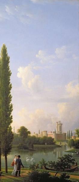 Chateau Photograph - Laxenburg Castle, Near Vienna, 1810 Oil On Canvas by Jean Bidauld