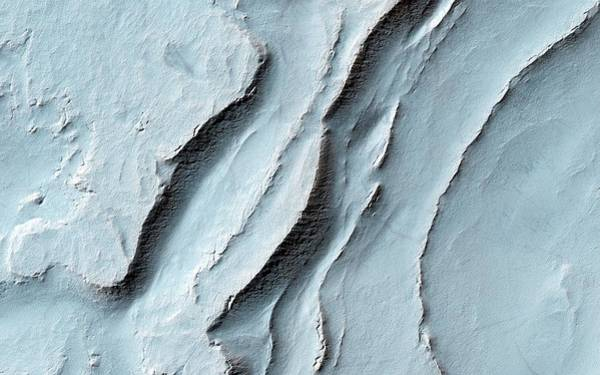 Geographical Wall Art - Photograph - Layering In Spallanzani Crater by Nasa/jpl-caltech/univ. Of Arizona