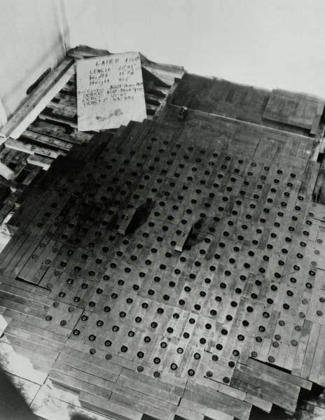 Atomic Bomb Photograph - Layers 10 Of Fermi's Atomic Pile by Argonne National Laboratory/science Photo Library