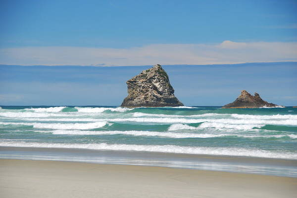 Photograph - Layers - New Zealand Coast by Cascade Colors