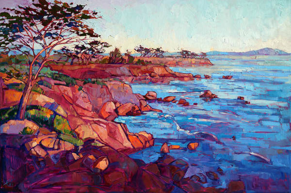 California Landscape Painting - Layers Of Monterey by Erin Hanson