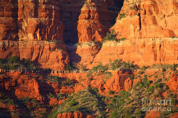Red Rocks Of Sedona Photograph - Layers Of Red Rock by Carol Groenen