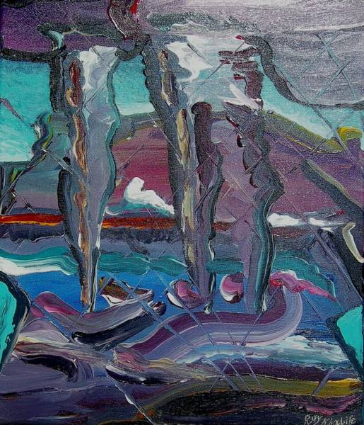 Painting - Layers Of Uncertainty by Ray Khalife