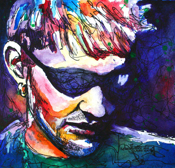 Layne Staley Painting - Layne by Rebecca Foster