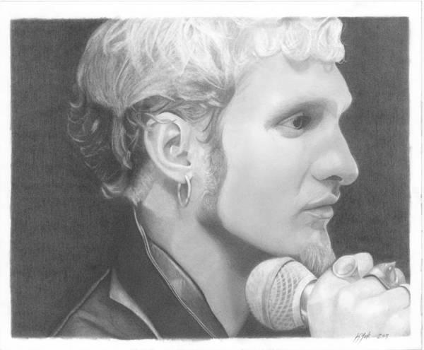 Layne Staley Wall Art - Drawing - Layne Staley 1 by Keith York
