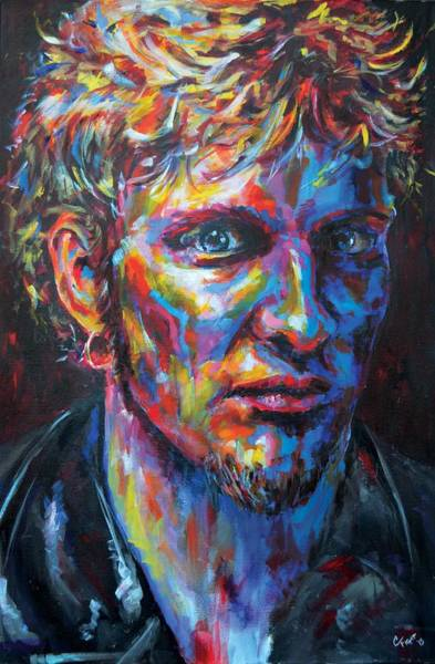Wall Art - Painting - Layne Staley by Chris Figat
