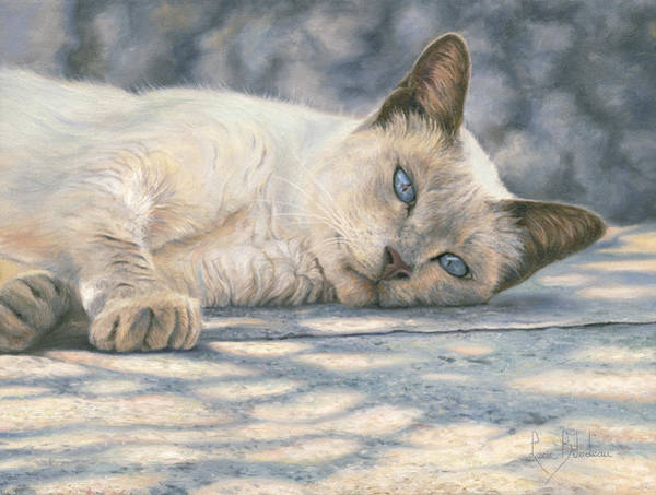 Domestic Cat Wall Art - Painting - Lazy Afternoon by Lucie Bilodeau