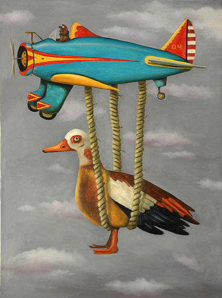Wall Art - Painting - Lazy Bird 2 by Leah Saulnier The Painting Maniac